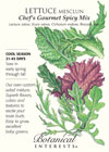 Lettuce Mesclun Chef's Gourmet Spicy Mix Seeds